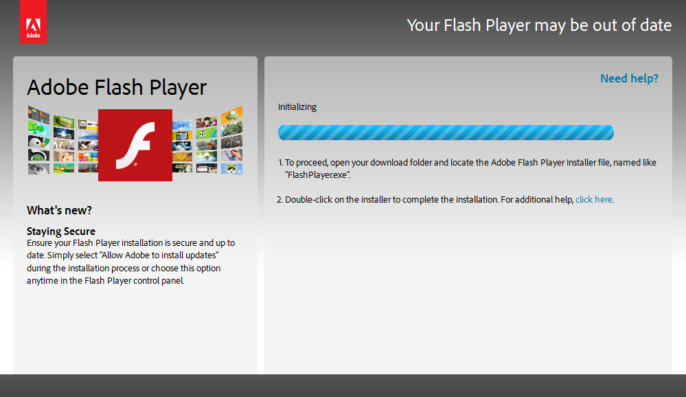 Fake Adobe Flash Player Update